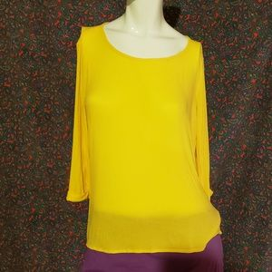 Ella Moss light weight flowy yellow blouse